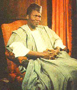 President Ahmed Sekou Toure, fauteuil-rouge, portrait officiel 1970-80