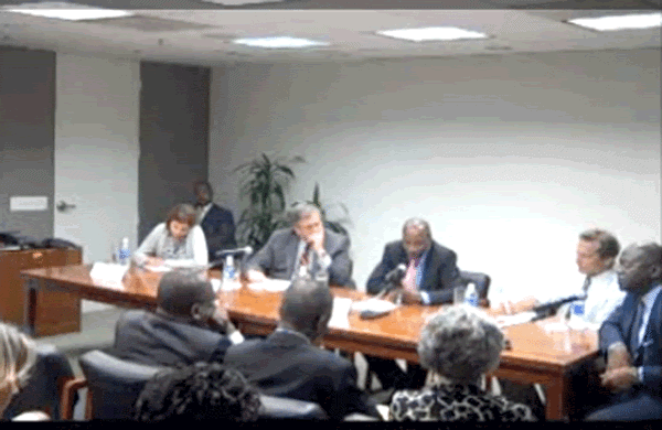 President Alpha Conde speaks at NDI