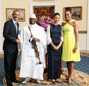 Presidents Barack Obama, Yayhya & Zeinab Jammeh, First Lady Michelle