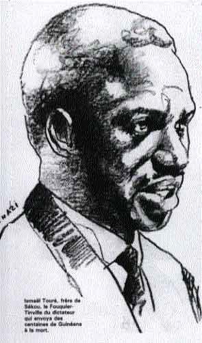 Ismael Toure, demi-frere de Sekou Toure, ministre, membre du BPN, president du comite revolutionaire du Camp Boiro