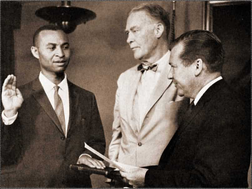 John H. Morrow taking the oath of office at the State Department